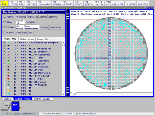Microtronic's SITEview Semiconductor Wafer Defect Inspection Software