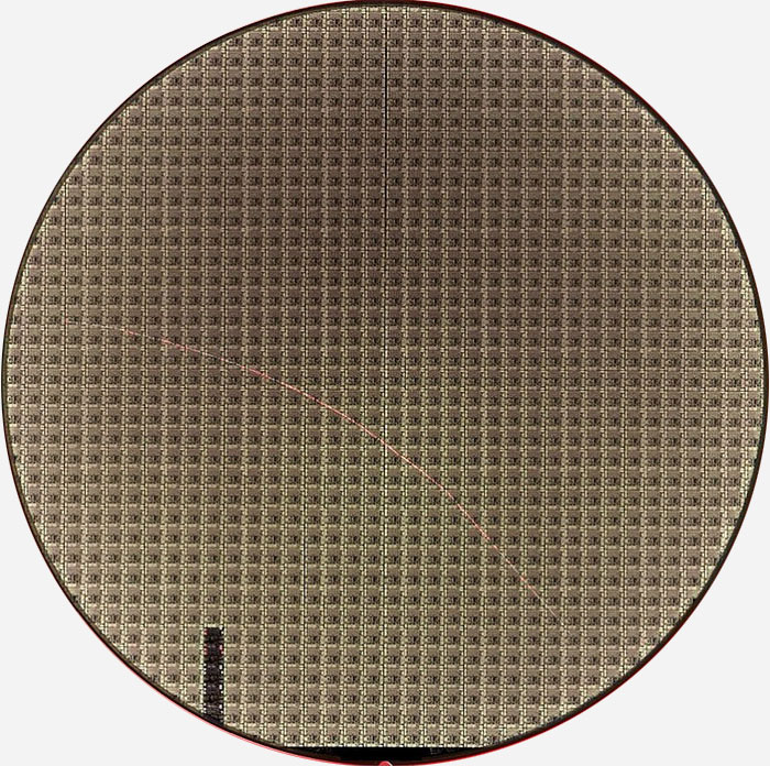 SCRATCH By MACHINE - Semiconductor Wafer Macro Defect Image - 2