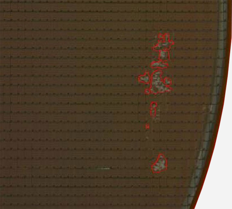 Contamination Large -- Semiconductor Wafer Defect Image - 3
