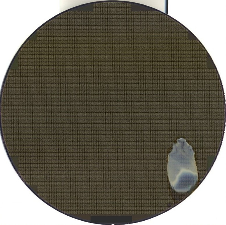 Contamination Large -- Semiconductor Wafer Defect Image - 4