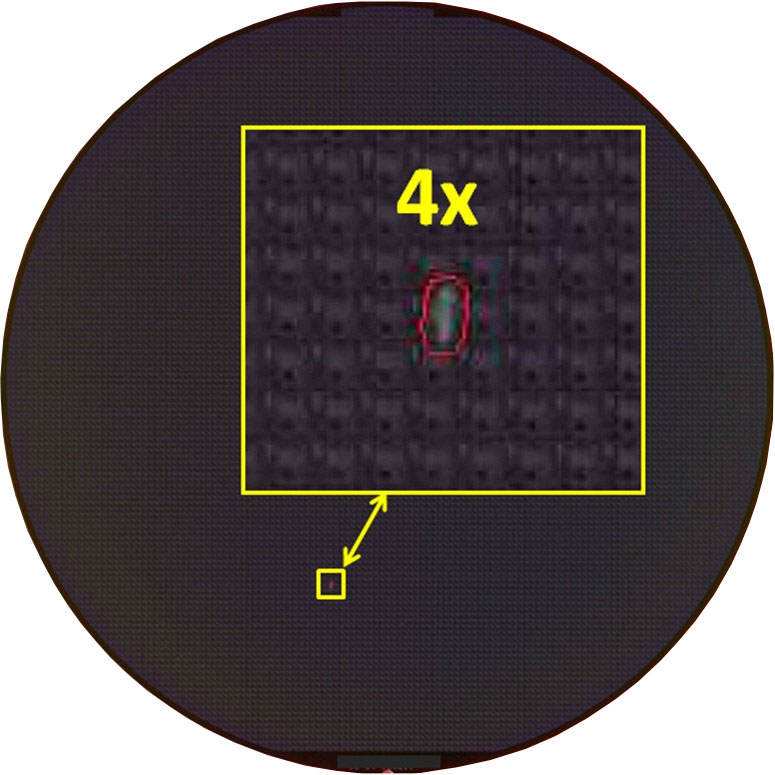 Contamination Small - Semiconductor Wafer Macro Defect Image -1