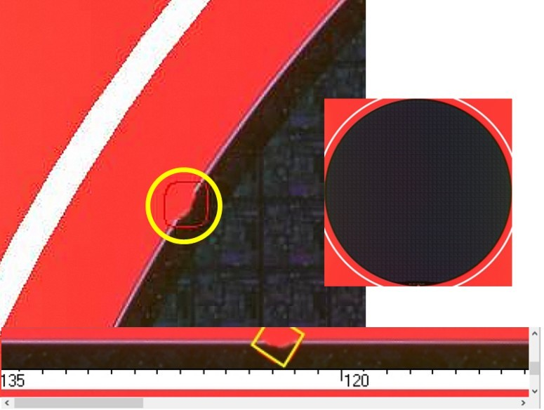Edge Chip  - Semiconductor Wafer Defect Image - 1