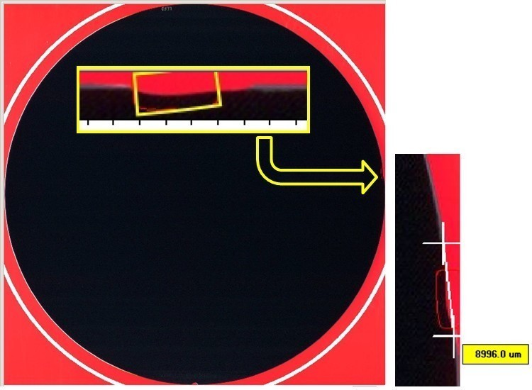 Edge Chip  - Semiconductor Wafer Defect Image - 2