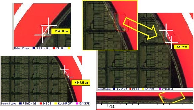 Edge Chip  - Semiconductor Wafer Defect Image - 3