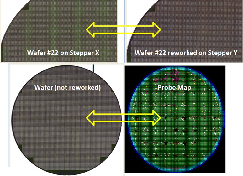 LENS STEPPER DEFECTS   - Semiconductor Wafer Macro Defect Image - 1