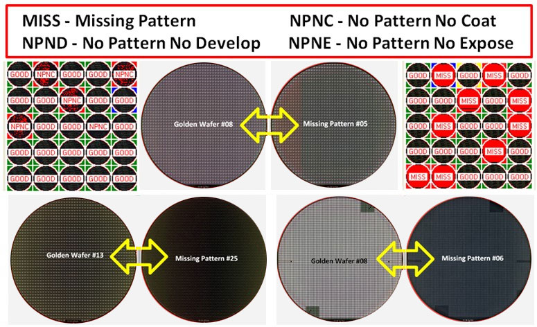 MISSING PATTERN   - Semiconductor Wafer Macro Defect Image - 2