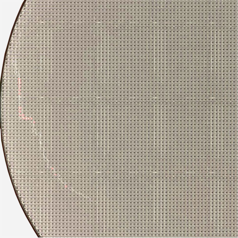 SCRATCH By HUMAN - Semiconductor Wafer Macro Defect Image - 1