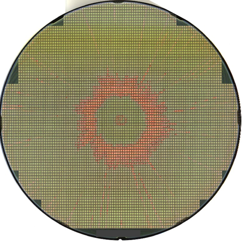 SPIN DEFECT CENTER - Semiconductor Wafer Macro Defect Image