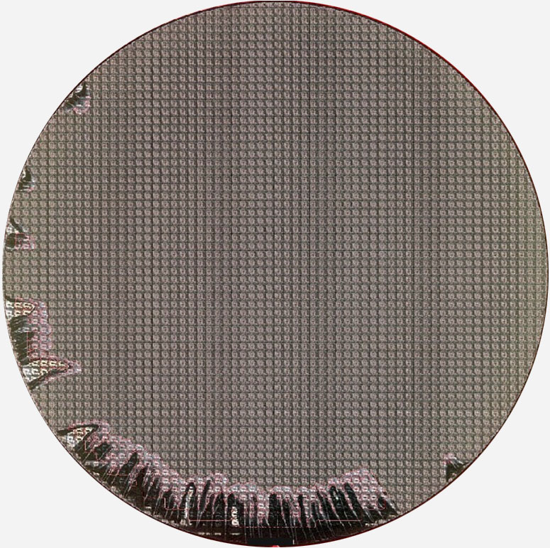 SPIN DEFECT ON EDGE - Semiconductor Wafer Macro Defect Image - 1