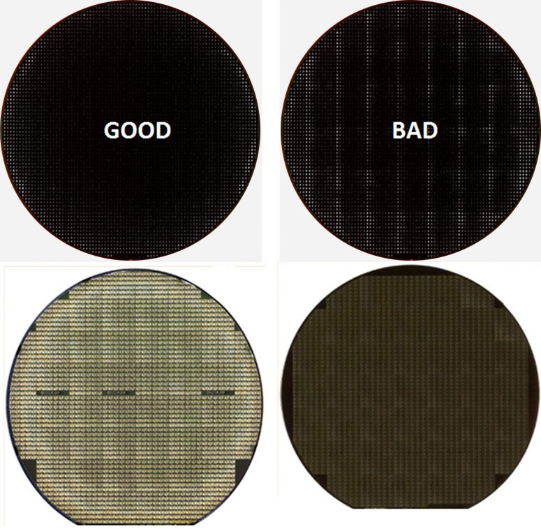Reticle Tilt - Semiconductor Wafer Macro Defect Image